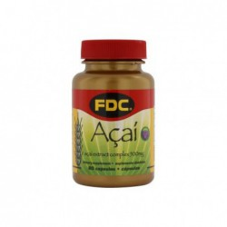 Acai Extract Complex, 500 mg 60 Capsules by FDC  Best Before March 2014