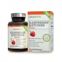 NatureWise Raspberry Ketones Plus Weight Loss Supplement and Appetite Suppressant 120 Caps
