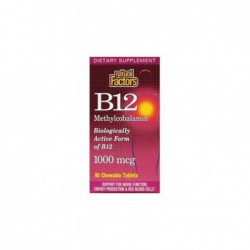 Vitamin B-12  Methylcobalamin , 1000 mcg 90 Tabs by Natural Factors