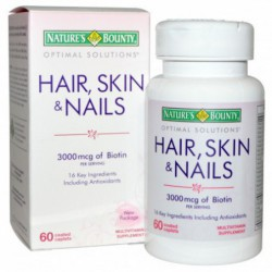 Nature s Bounty, Hair, Skin & Nails, 60 Coated Caplets By Nature s Bounty