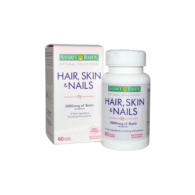 Nature S Bounty Hair Skin Nails 60 Coated Caplets By