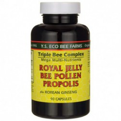 Triple Bee Complex Plus Korean Ginseng, 90 Caps by Y S  Eco Bee Farm