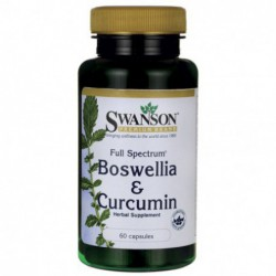 Full Spectrum Boswellia and Curcumin, 60 capsules By Swanson