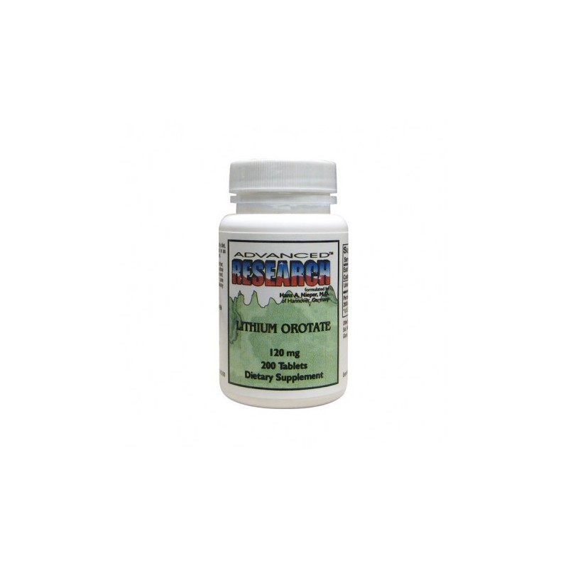 Lithium Orotate, 200 Tabs by Advanced Research Nutrient Carriers