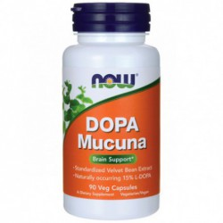 DOPA Mucuna, 90 Veg Caps by NOW Foods