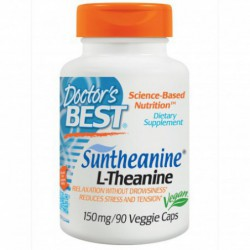Suntheanine L-Theanine, 150 mg, 90 Veggie Caps By Doctor s Best