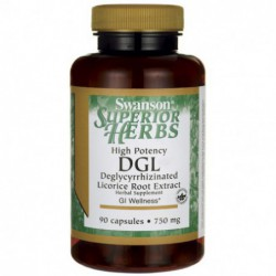 High Potency DGL  Licorice , 750 mg 90 Caps by Swanson Superior Herbs