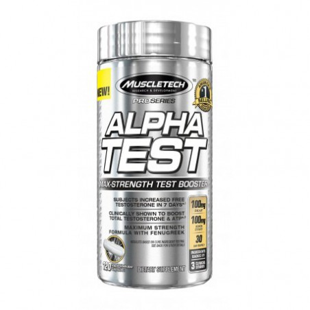 MuscleTech Pro Series AlphaTest Max-Strength Testosterone Booster 120 Rapid-Release Capsules