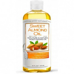 Sweet Almond Oil, 16 fl oz by Pure Body Naturals