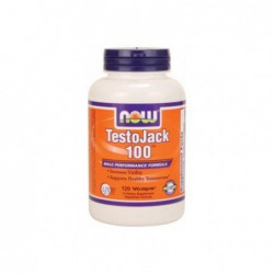 TestoJack 100, 120 Vcaps by NOW Foods