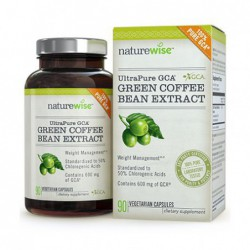 UltraPure GCA Green Coffee Bean Extract Made With 100  Pure GCA, 90 Veggie Caps by NatureWise