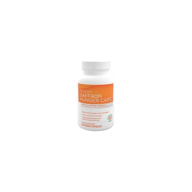 Hunger Caps Appetite Control Formula with Satiereal Saffron Extract, 60 Veg Caps by ReBody