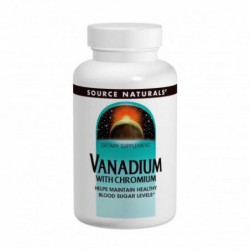 Vanadium With Chromium 90 Tablets by Source Naturals