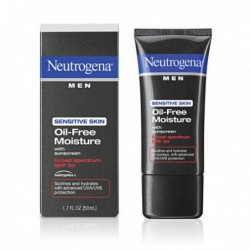 Men Sensitive Skin Oil Free Moisture, SPF 30, 1 7 Ounce from Neutrogena