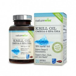 OmegaWise Krill Oil With 100  Pure Superba Krill, 500mg, 120 count by NatureWise