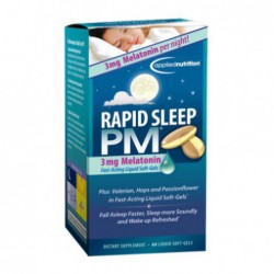 Rapid Sleep PM, 60-Count Bottle by applied nutrition
