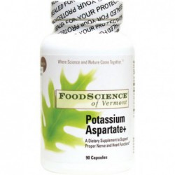 Potassium Aspartate, 90 capsules by swansonvitaminsFoodScience of Vermont