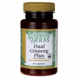 DUAL GINSENG PLUS, 60 CAPSULES BY SWANSON SUPERIOR HERBS