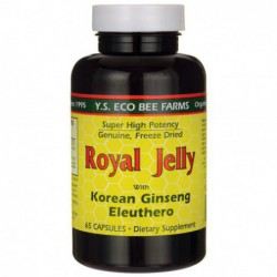 Royal Jelly with Korean Ginseng and Eleuthero, 65 Caps by Y S  Eco Bee Farm