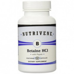 Betaine HCl with Pepsin, 90 caps by Nutrivene