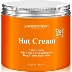 Cellulite Cream & Muscle Relaxation Cream Huge 8 8oz, by Pure Body Naturals
