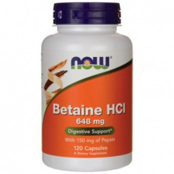 Betaine HCl, 120 Caps by NOW Foods