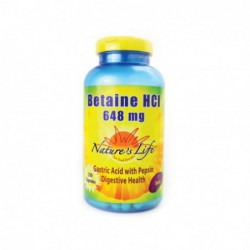 Betaine HCl, 648 mg 250 Caps by Nature s Life