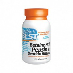 Betaine HCl Pepsin & Gentian Bitters, 120 Caps by Doctor s Best