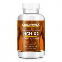 HGH-X2, 60 capsules by crazy bulks
