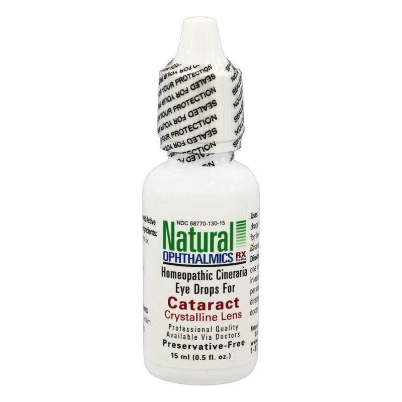 Crystalline Lens Cineraria Eye Drops Cataract 15ml by Natural Ophthalmics