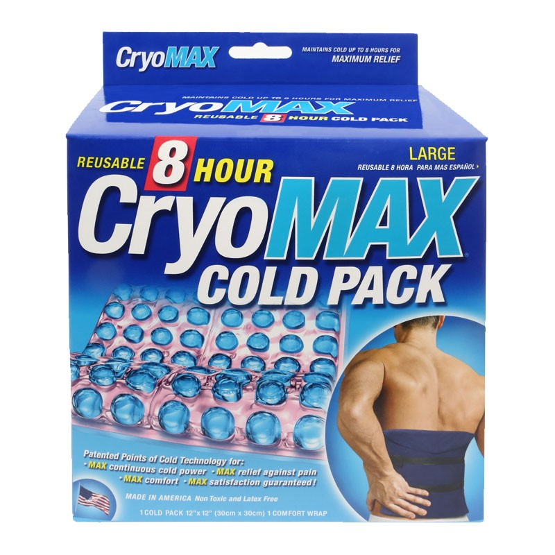"""Cryo-Max Reusable 8 Hour Cold Pack, Large (12"""" x 12"""") by CryoMax"""