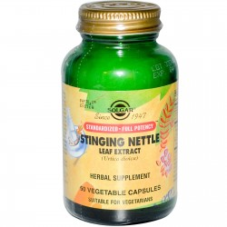 Stinging Nettle Leaf Extract, 60 Vegetable Capsules By Solgar