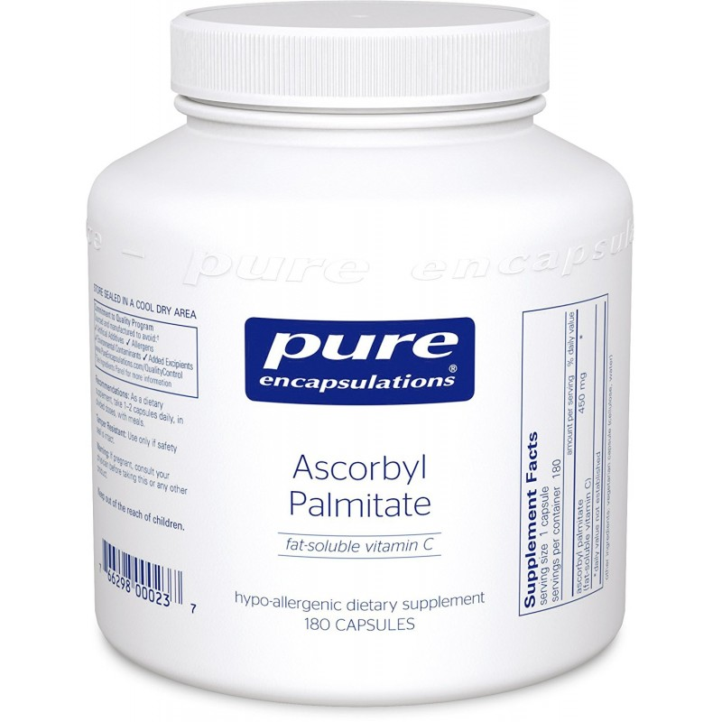 Ascorbyl Palmitate, 180 Caps By Pure Encapsulations
