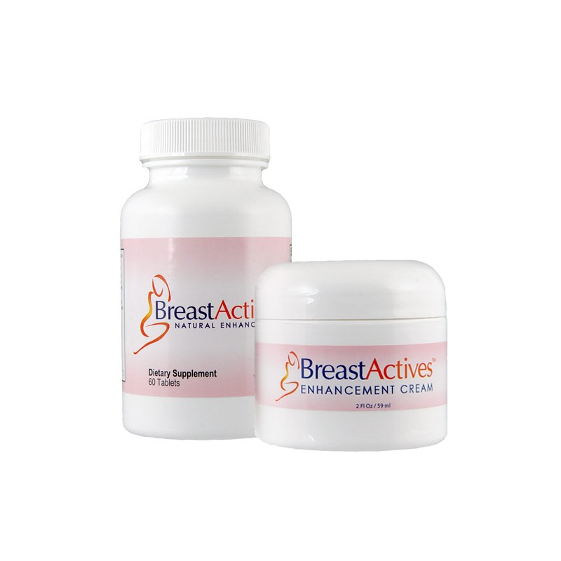 Breast Actives Kit, 60 Capsules Bottle & 2 fl Oz Jar of Cream