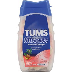 Tums Ultra® 1000 Maximum Strength Tropical Fruit, 72 Chewable Tablets