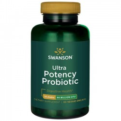 Ultra Potency Probiotic 66 Billion CFU, 60 Veg Drcaps By Swanson Probiotics