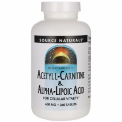 Acetyl LCarnitine & AlphaLipoic Acid, 240 Tabs