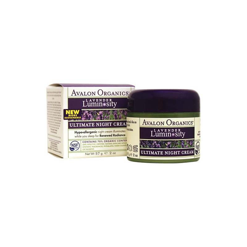 Ultimate Night Cream Lavender Luminosity, 2 oz (57 grams) Cream