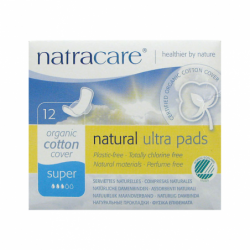 Natural Pads Ultra with Wings Super, 12 Ct