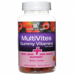 MultiVites Gummy Vitamins  Hair, Skin and Nails Support, 70 Gummies