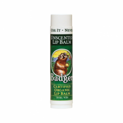 Organic Lip Balm Unscented, 0.15 oz Balm