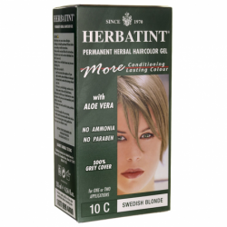 Permanent Herbal Haircolor Gel 10C Swedish Blonde, 1 Box