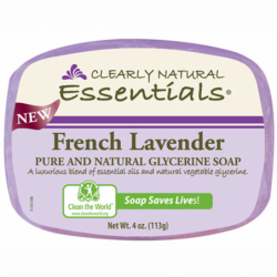 Glycerine Bar Soap French Lavender, 4 oz (113 grams) Bar(s)