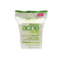 Natural Acne Dote Clean N Treat Towelettes, 30 Ct
