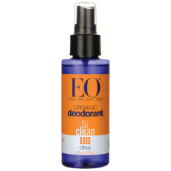 Organic Deodorant Spray  Citrus, 4 fl oz (118 mL) Liquid