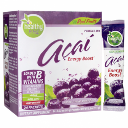 Acai Energy Boost  Natural Tropical Punch Flavor, 24 Pkts