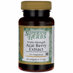 Acai Berry Extract TripleStrength, 75 mg 60 Sgels