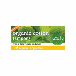 Chlorine Free Organic Tampon Regular with Applicator, 16 Ct