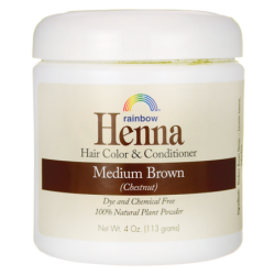 Henna Hair Color and Conditioner  Medium Brown Chestnut, 4 oz (113 grams) Jar