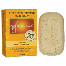 Pure Shea Butter Bar Soap  Apricot Exfoliating Bar, 4 oz (120 grams) Bar(s)